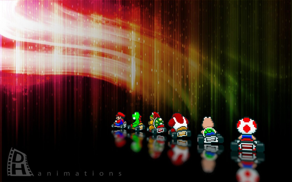 super mario kart wallpaper