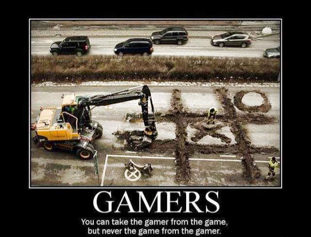 Gamer behaving badly